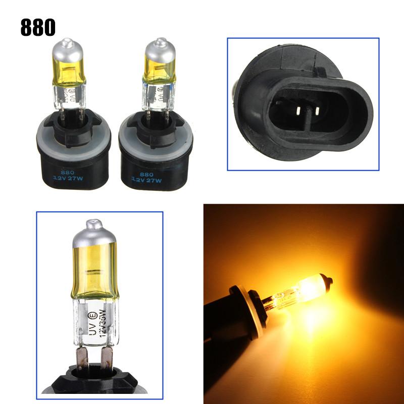 Un paio di 880 881 ha nascosto lampade di lampadine xenon dc12v 3000k-3500k giallo