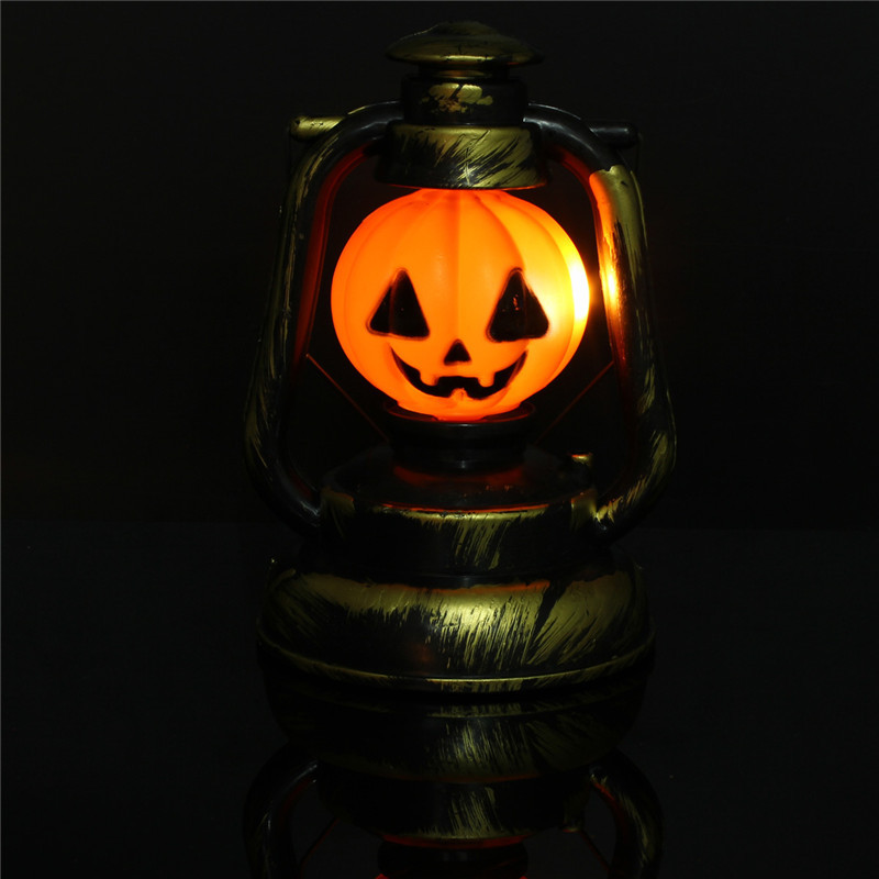 Halloween Pumpkin Skull Witch Lantern Lamp With Light Laughter