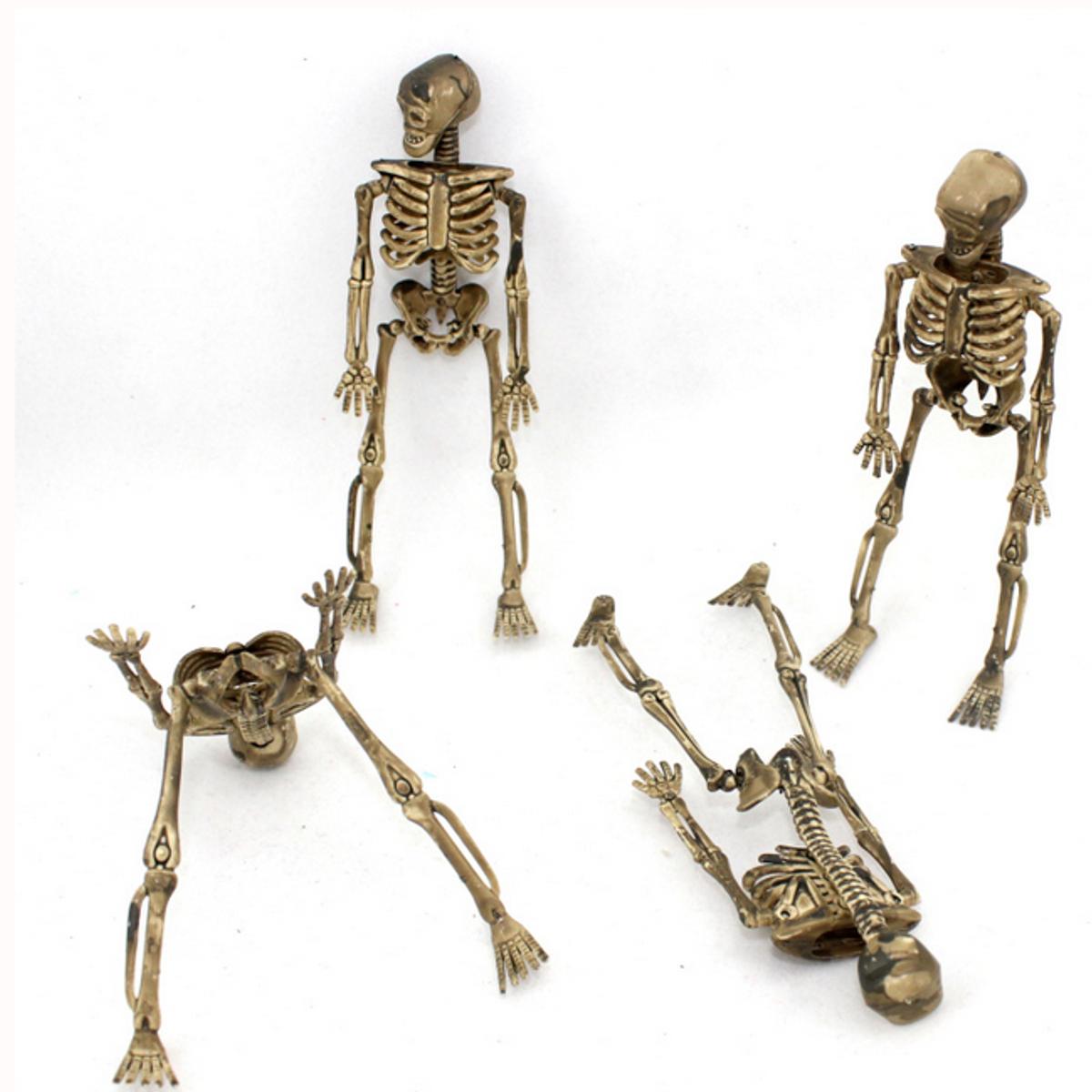 4pcs halloween piccolo scheletro osseo umano decorazione di Halloween del partito