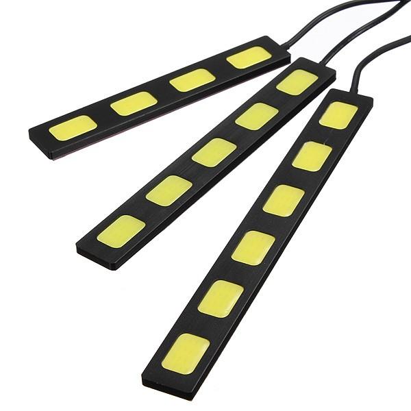 12v 3/4/5/6 LED voiture d'épi drl conduite du phare antibrouillard de lampe courant de jour 9 centimètres blancs