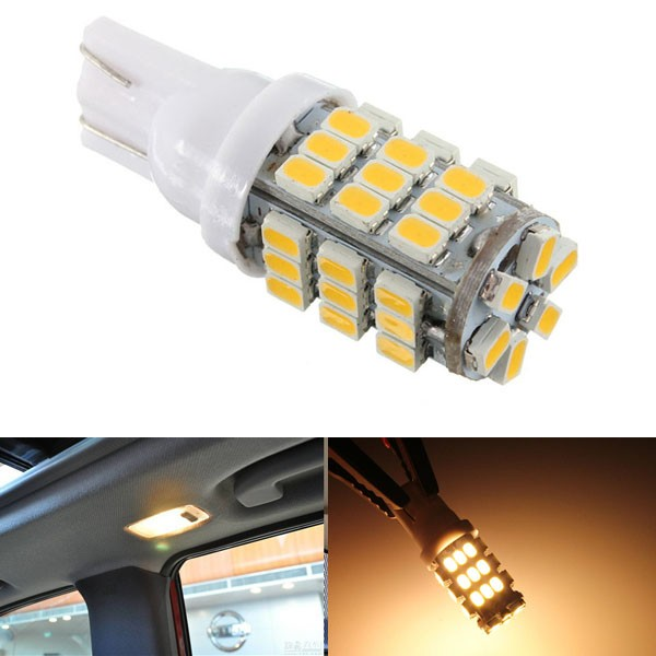 T10 42LED 1206SMD Warm White 12V DC LED Lights Bulbs Car Backup Reverse
