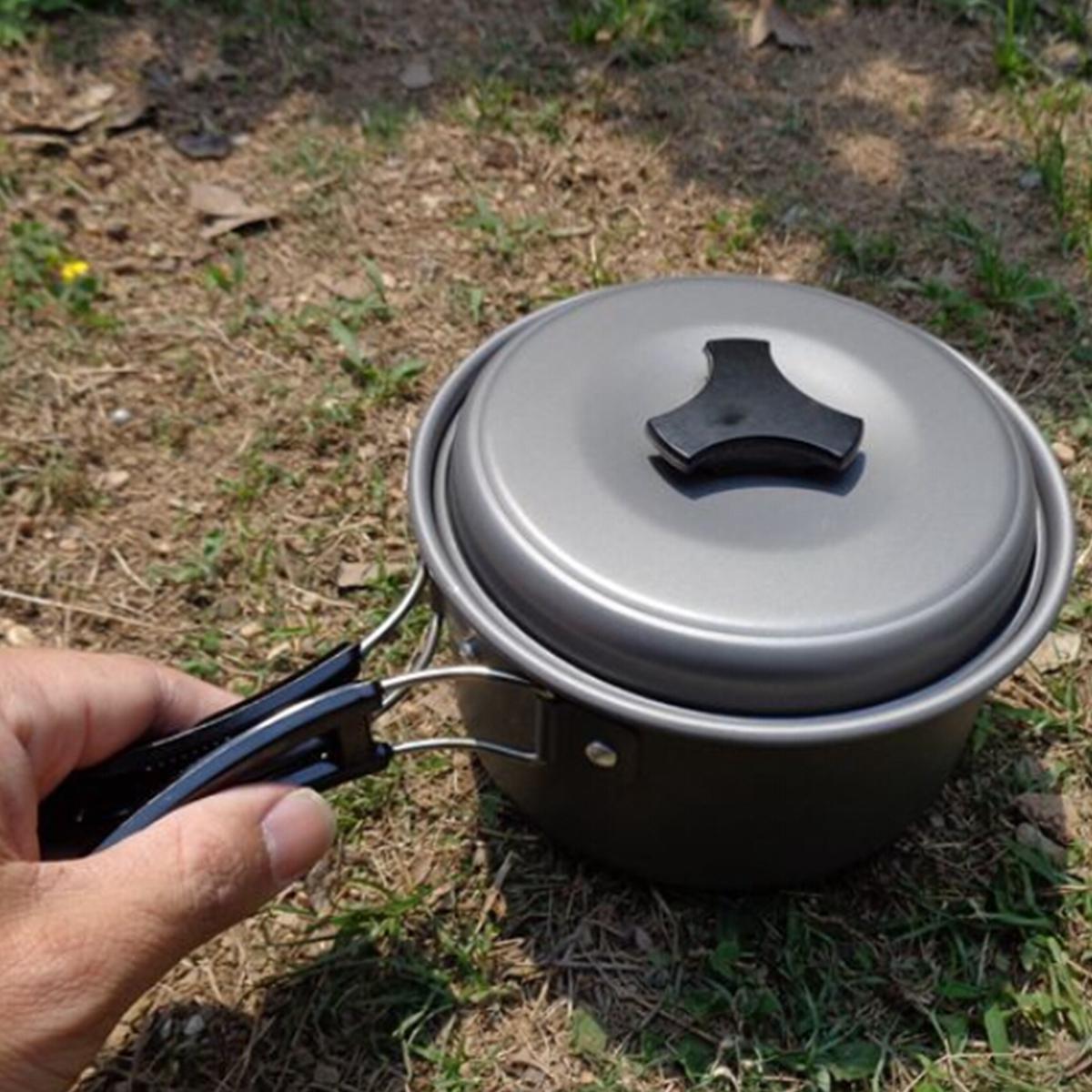 camping en plein air de pique-nique randonnée cuisson mis pot bol casserole ustensiles de cuisine