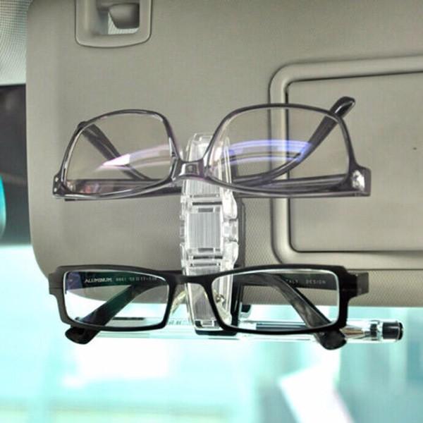 Supporto per occhiali da sole dell'automobile Occhiali per carta doppia di penna di carta di occhiali da sole Doppio Occhialis