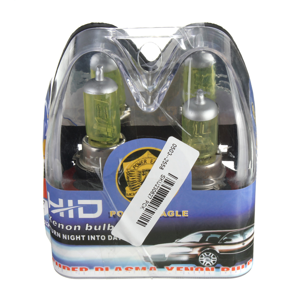 A Pair of H13 60W/55W HID Xenon Light Bulbs Lamps DC12V Yellow 3000K-3500K