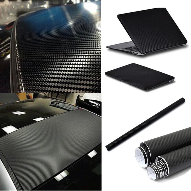 50x127cm Siyah 3B Örgü Örgü Karbon Fiber Vinil Film Kaplama Sayfası