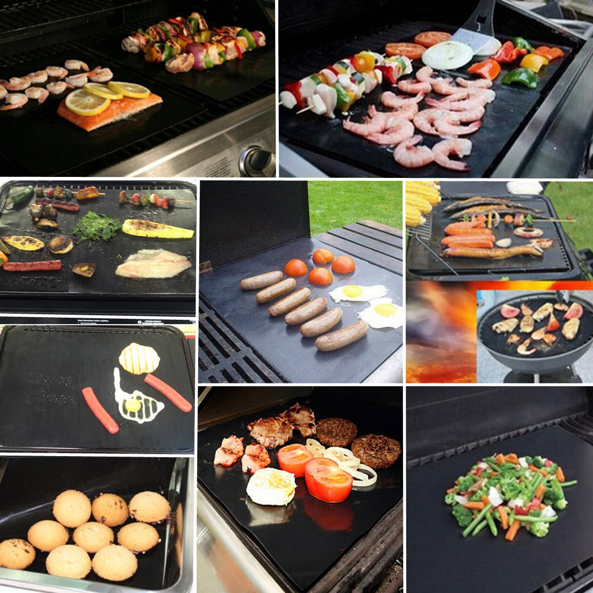 Non-stick BBQ Grill Mat Barbecue Cake Baking Mats