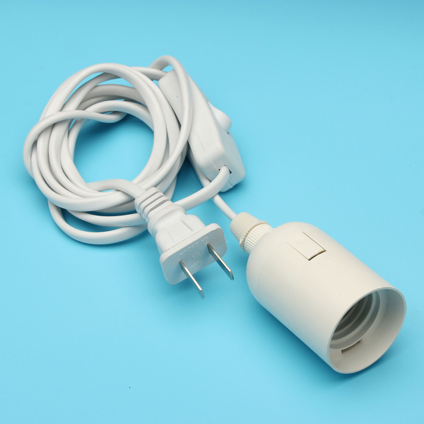 160cm E27 LED Screw Socket With Switch and Spiral Mouth For Photography Studio
