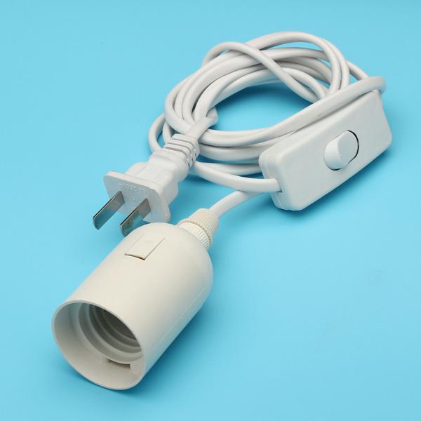 160cm e27 LED Tornillo de enchufe con interruptor y la boca de caracol para estudio de fotografía