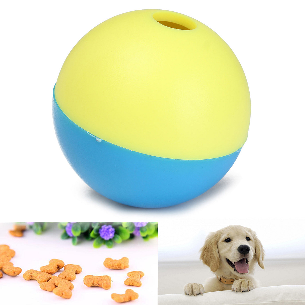 Pet Cat Kitty Puppy Play Toy Food Ball Food Treat Feeder Dispenser