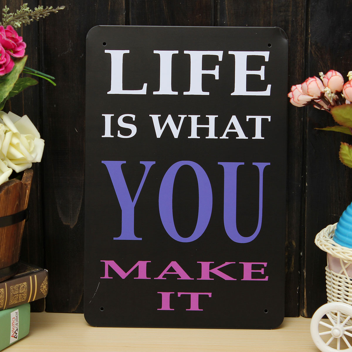 make life sheet metal drawing metal painting tin home office cafe wall poster sign at banggood sold out af home office