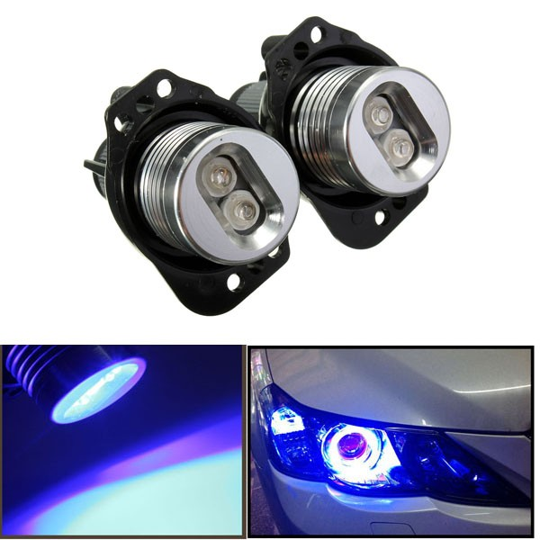 12V LED Reflektor Angel Eyes Halo Rings Żarówka Lampa Niebieskie Światło dla BWM E90 E91