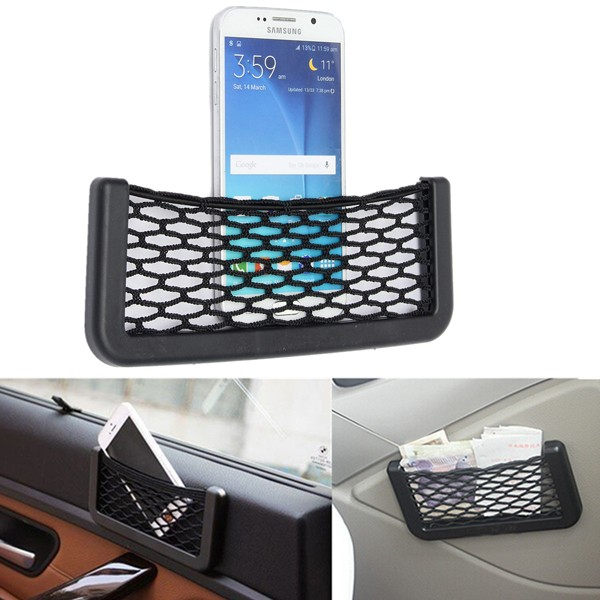 Car Auto Storage Mesh Nets Resilient String Phone Bag Holder Organizer