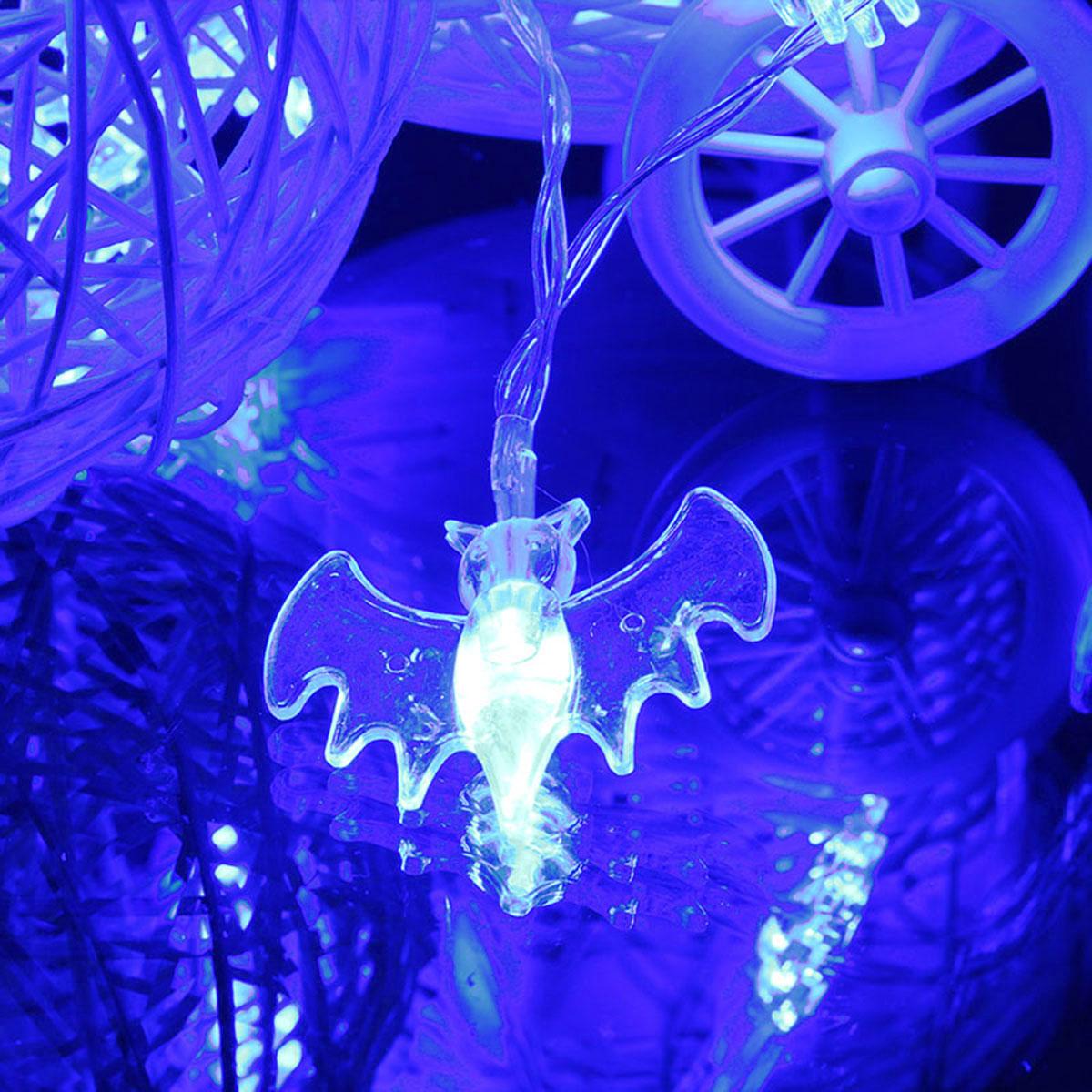 20 azuis LED morcegos acender luzes do dia das bruxas partido decration