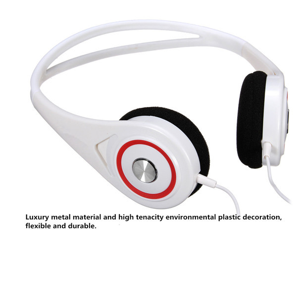 S-002 3.5mm Stereo Headphone Headset Earphone With Mic For Mobile PC Tablet Laptop