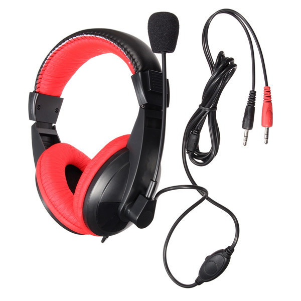 S-750 Universal 3.5mm Stereo Headphone Earphone Headset With Mic for PC Tablet Laptop
