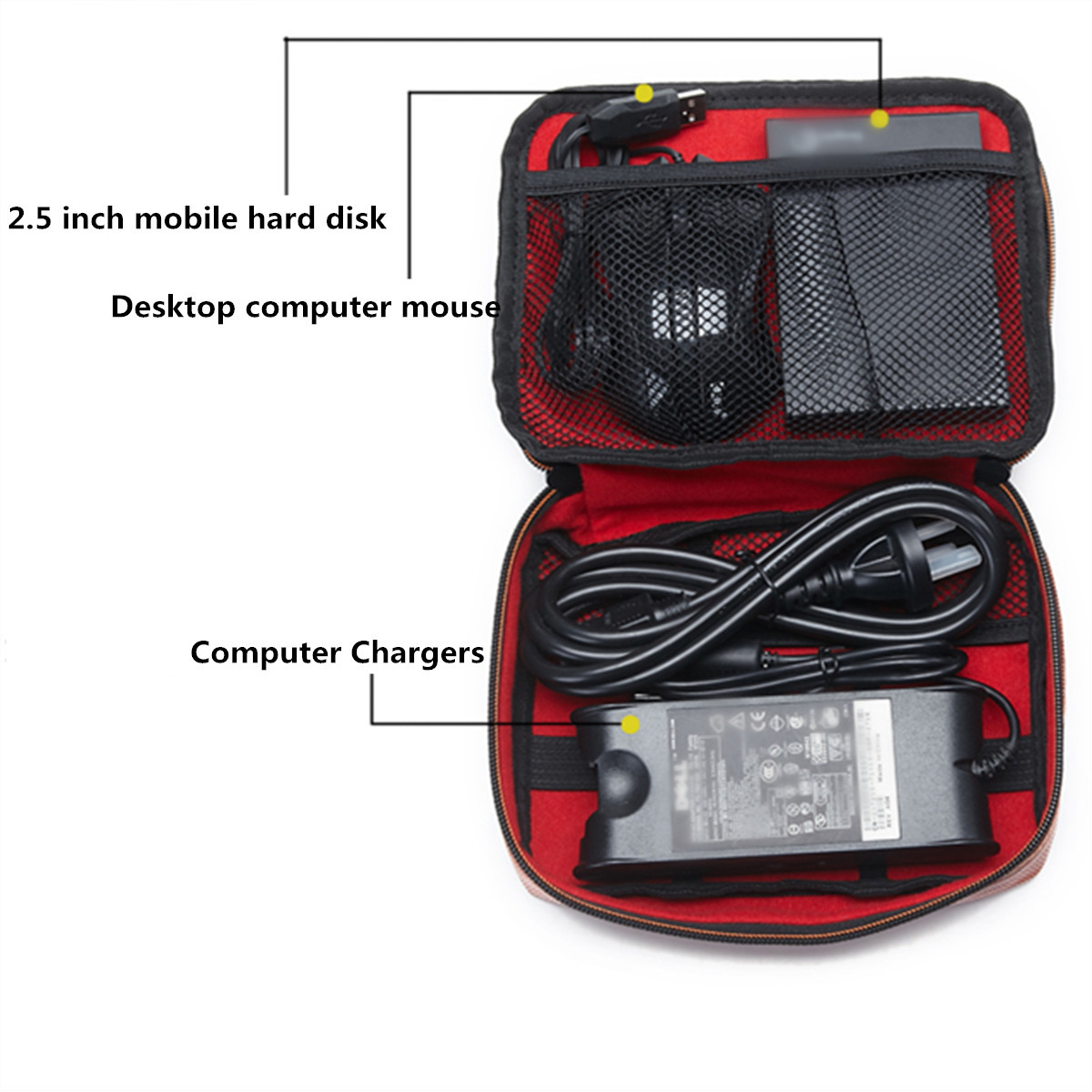 High Capacity Power Bank Charger Cable Earphone Storage Bag