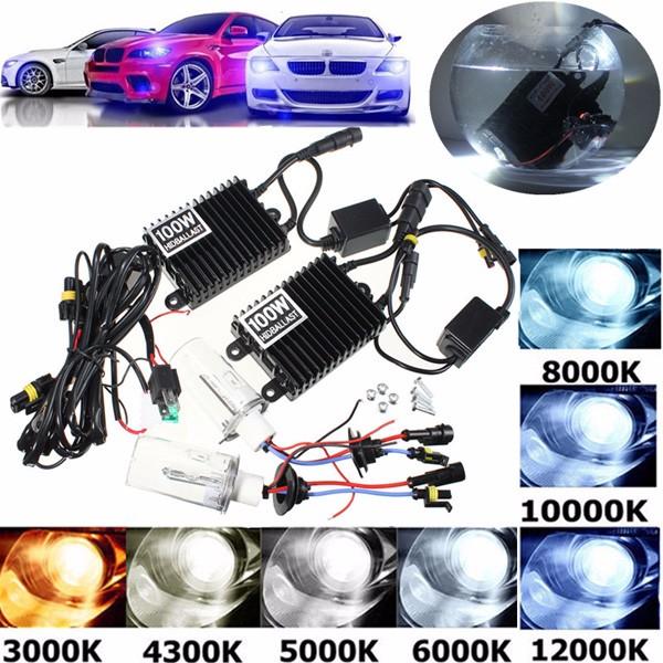 100W HID KIT ACバラストH1キセノン電球ランプ4300K-12000K