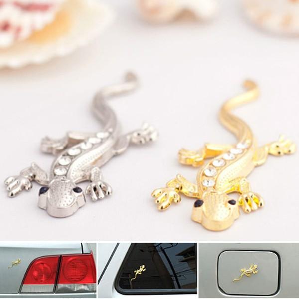 3d gecko del metallo diamante emblema distintivo logo camion decalcomania autoadesivo decorazione auto