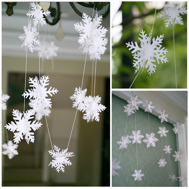 Natal 3o cenário de festa de casamento de Natal de estandarte de floco de neve de suspensão