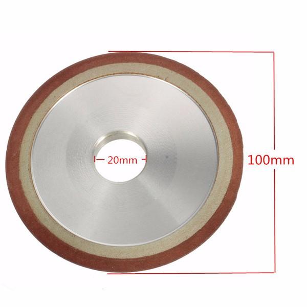 180 gravier roue de grincement de diamants de 100 mm
