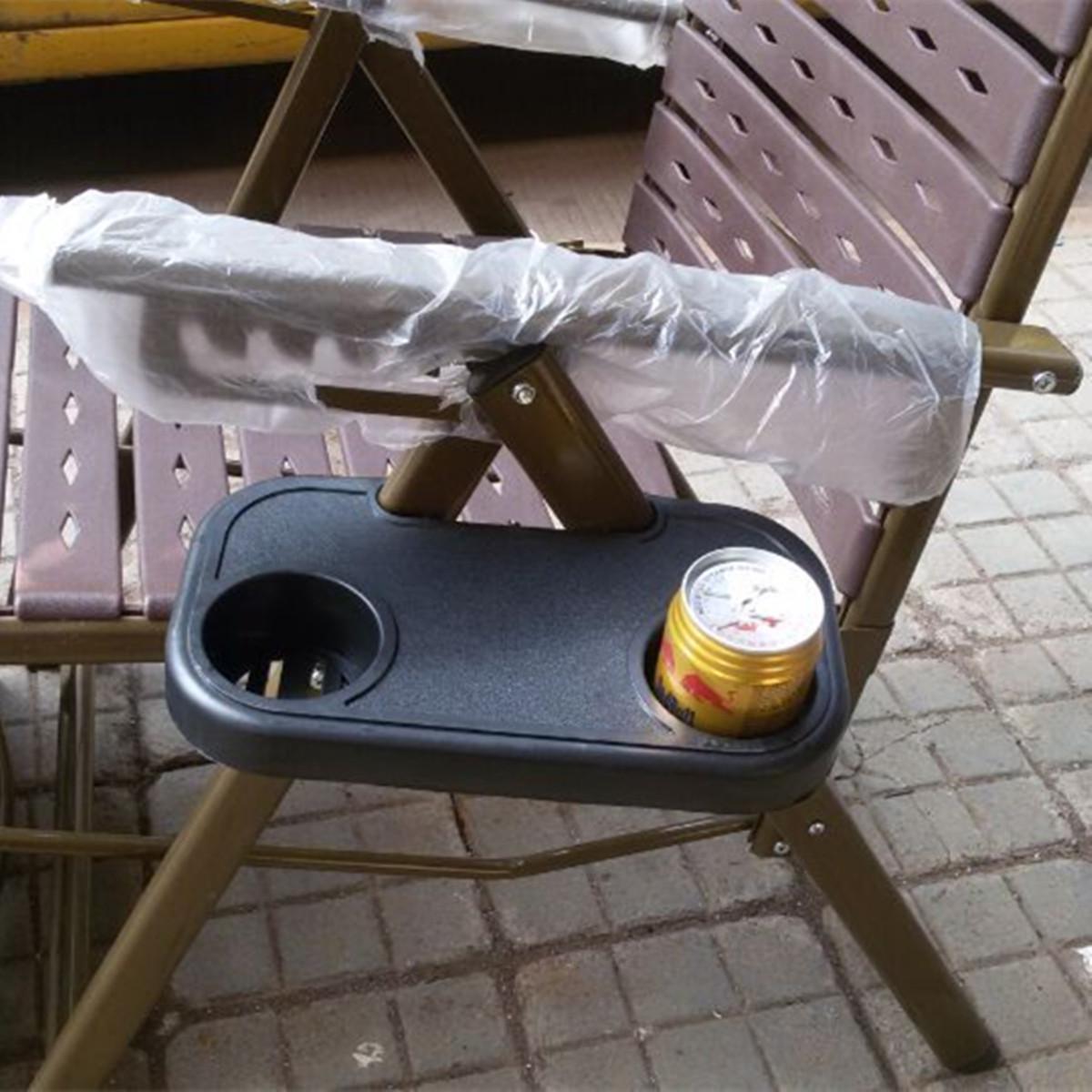 clip-en silla relajante lado escritorio titular de la materia de beber vaso de plástico