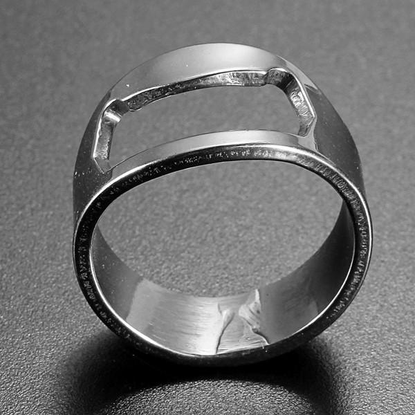 Anel de dedo de aço inoxidável abridor de garrafa anel em forma de cerveja para a ferramenta bar de cerveja