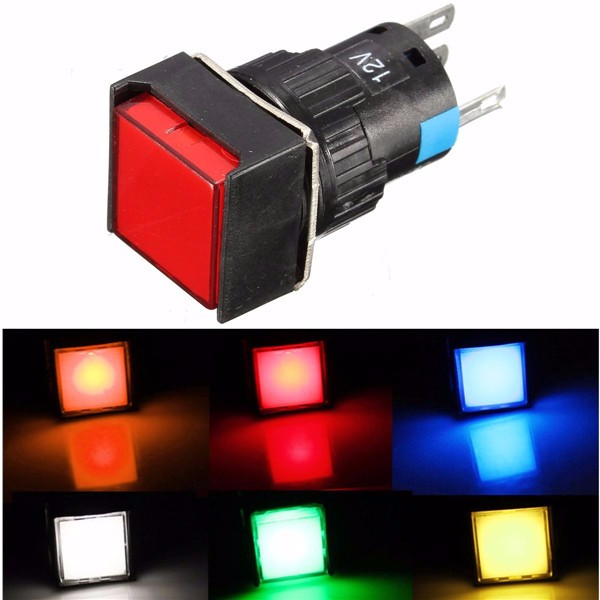 Square LED Light Push