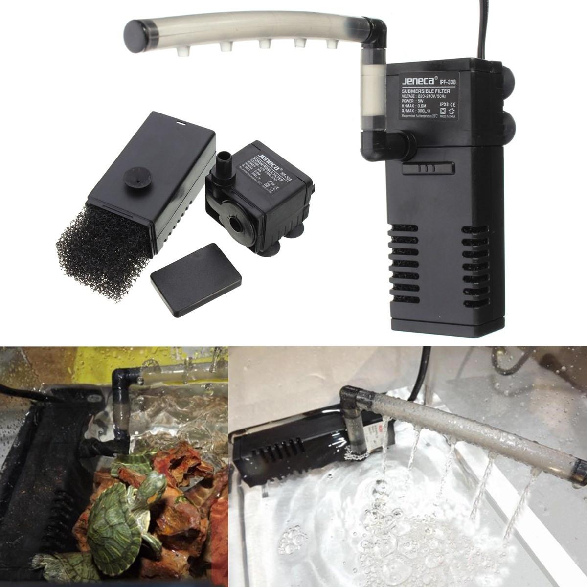 300L/H Aquarium Fish Tank Internal Submersible Filter Pump With Spray Bar