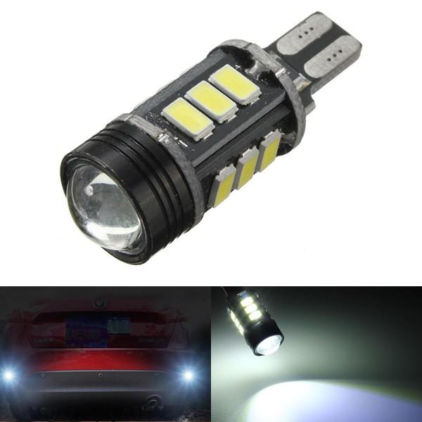 Il cigno maschio t15 16w 5630 15-LED l'auto fa una copia di riserva di lampadina inversa bianco vivo