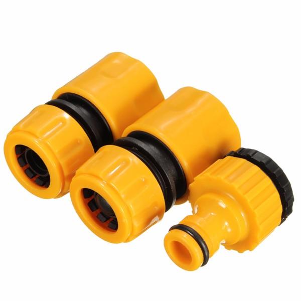 3pc 1/2 3/4inch l'installazione di tubo di tubo di gomma mette il rubinetto di prato all'inglese di giardino di adattatore di connettore veloce