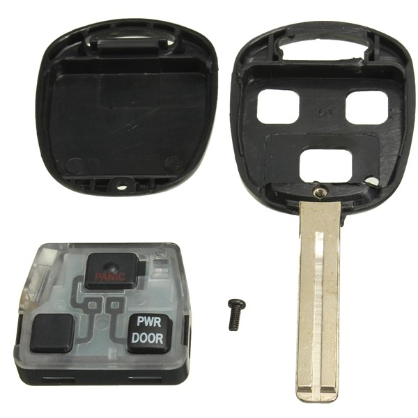 3 BTN Uncut Fob Power Door Remote Entry Key for Lexus
