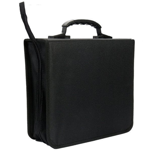 288 Disc Capacity CD DVD Storage Holder Box Cover Carrying Case Organizer Black