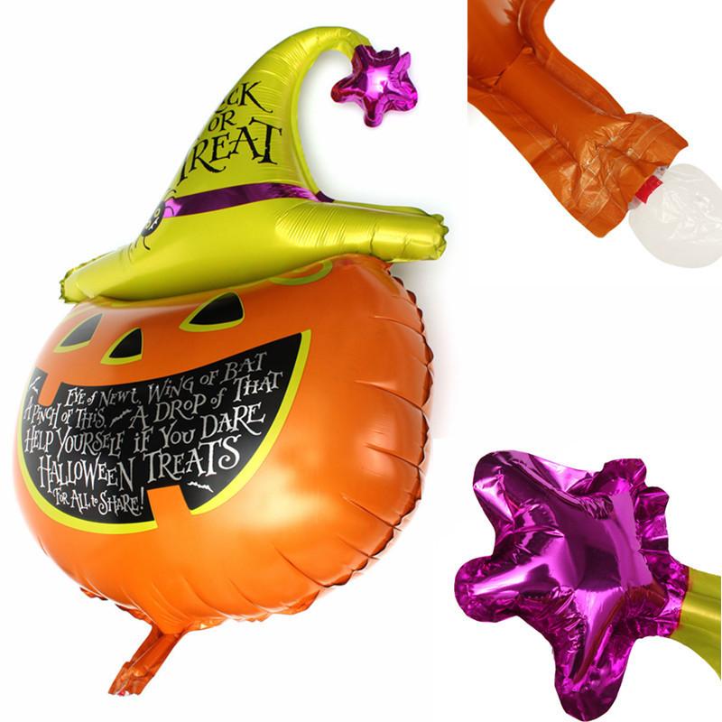 La calabaza de la Víspera de todos los Santos encabeza al partido de globos de hoja de metal decorativo decoración agradable
