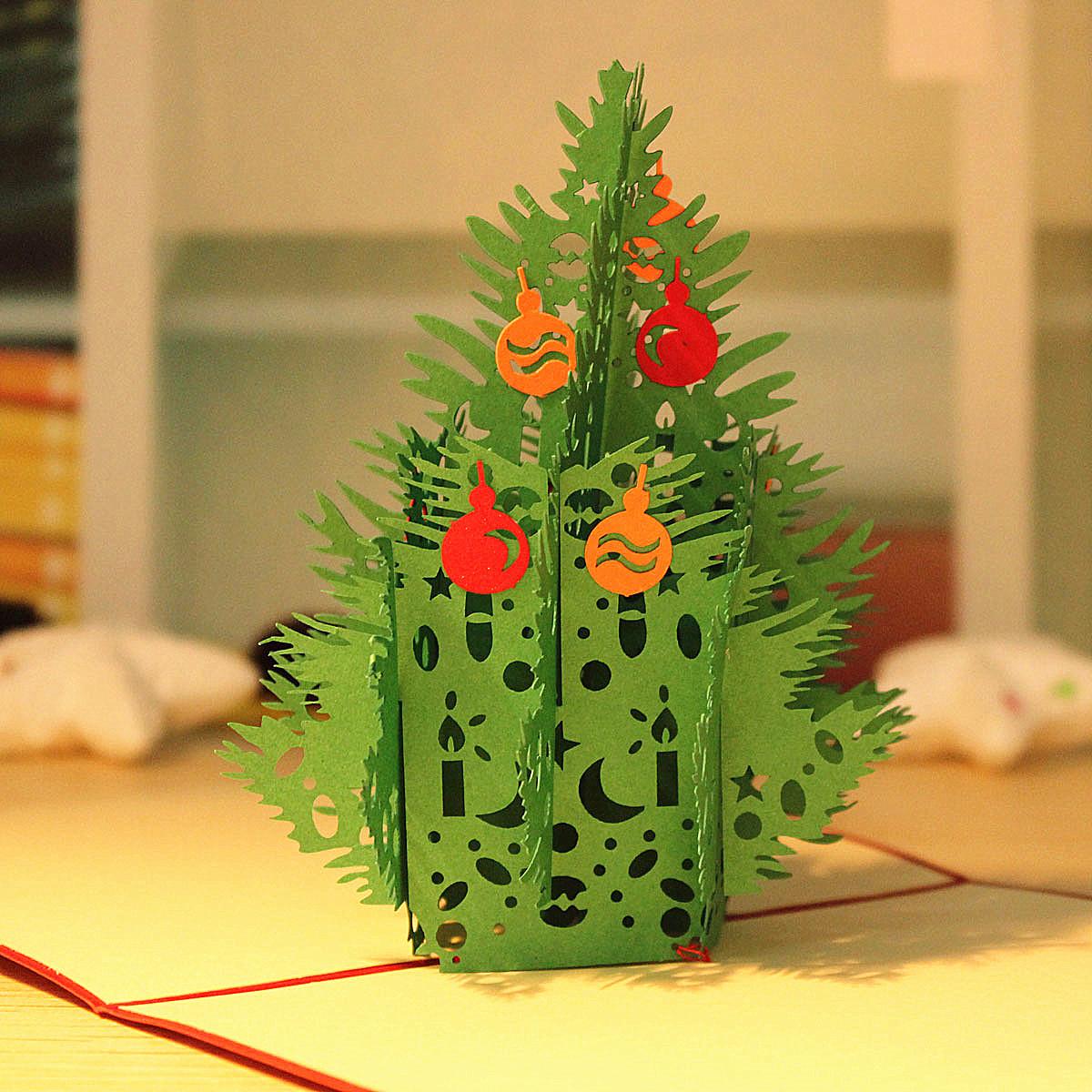 день рождения рождественской елки 3-й пригласительный билет поздравительной открытки ручной работы