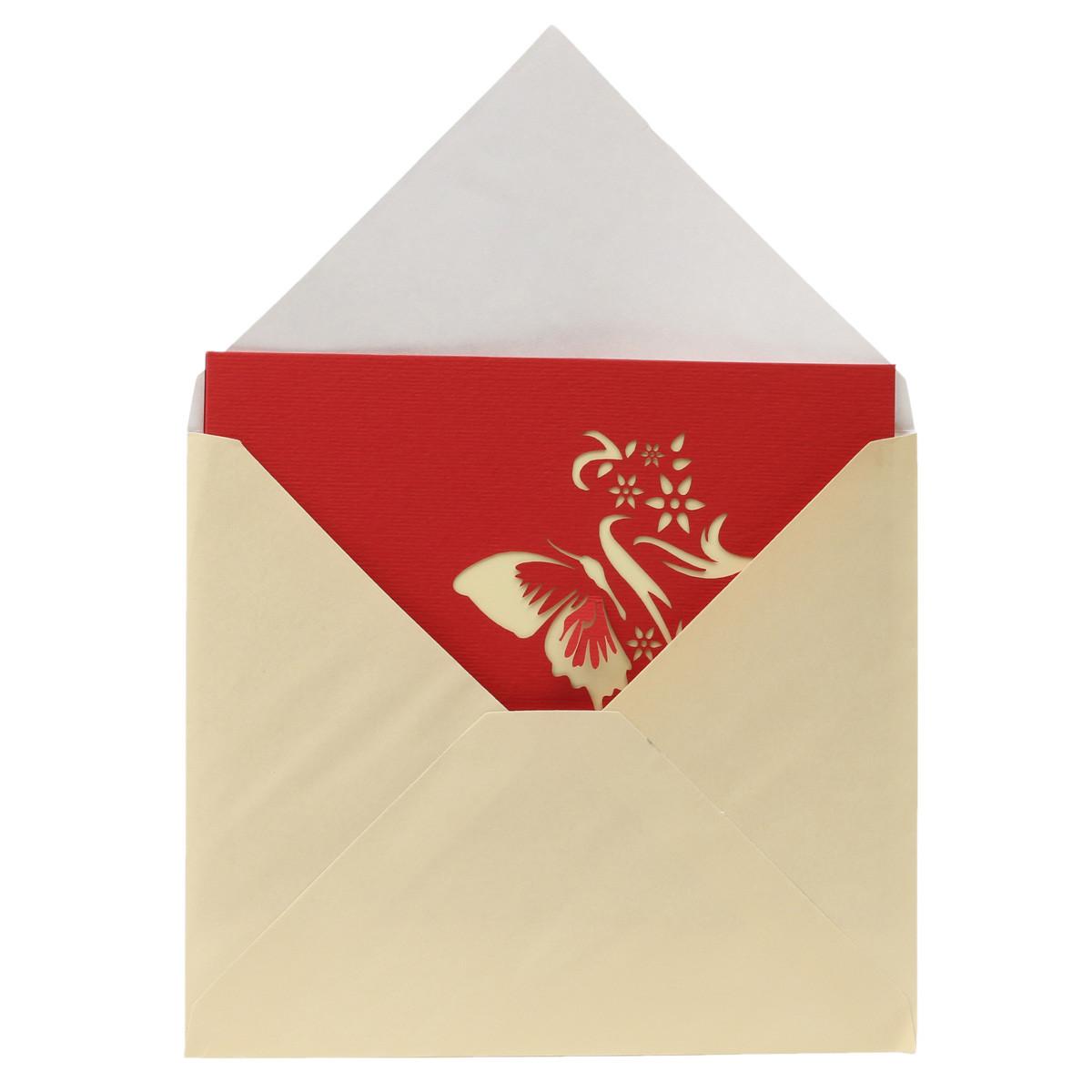 3ème mariage fait à la main valentines carte d'invitation de carte de vœux commémorative