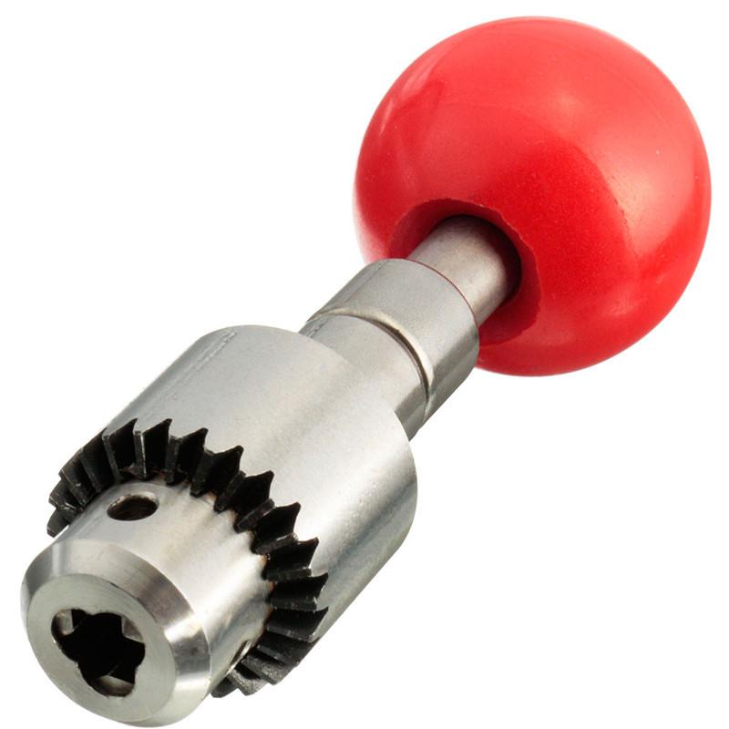 0.3-4mm Mini Micro Jewelry Craft Hand Drill Tools Wood Manual Hand Twist Drill With Key Chuck