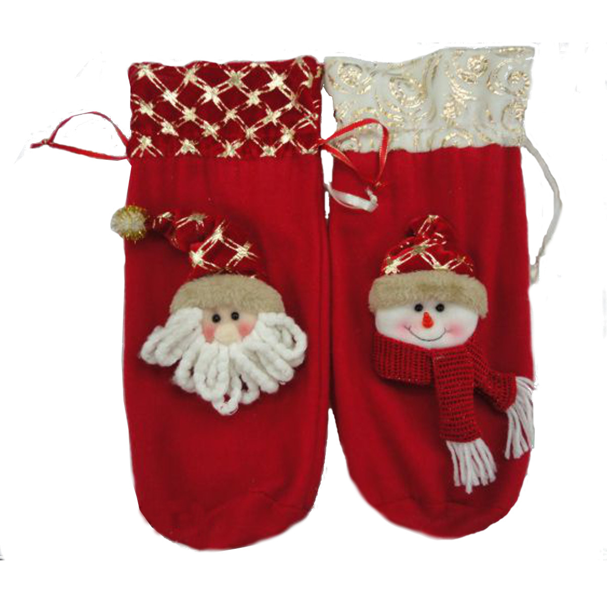 Natal de 36 cm xmas o boneco de neve de bolsa de cobertura de garrafa de vinho santa clau