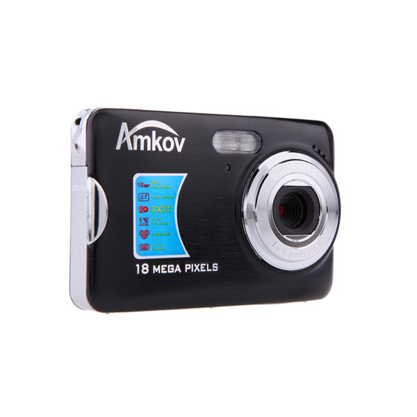 Amkov cdfe 2.7 inch tft 8x digital zoom 18mp 1280 x 720 hd anti-shake smile capture digital video chamber