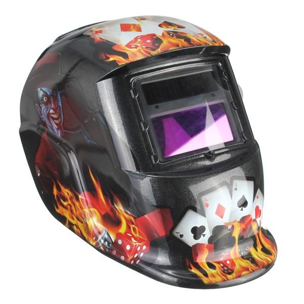 Joker Card Auto Verdunkelung Schweißhelm Arc Tig Mig Grinding Schweißer Maske