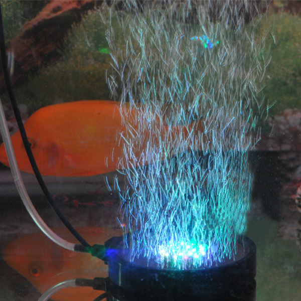 Waterproof Aquarium Fish Tank Air Stone Bubble LED Light Blue Red Blue Multicolor