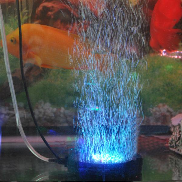 Impermeabile pesci d'acquario serbatoio airstone bolla LED luce blu blu rosso multicolore