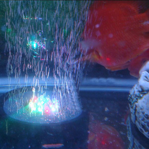Waterproof Aquarium Fish Tank Air Stone Bubble LED Light Blue Red Blue Multicolor