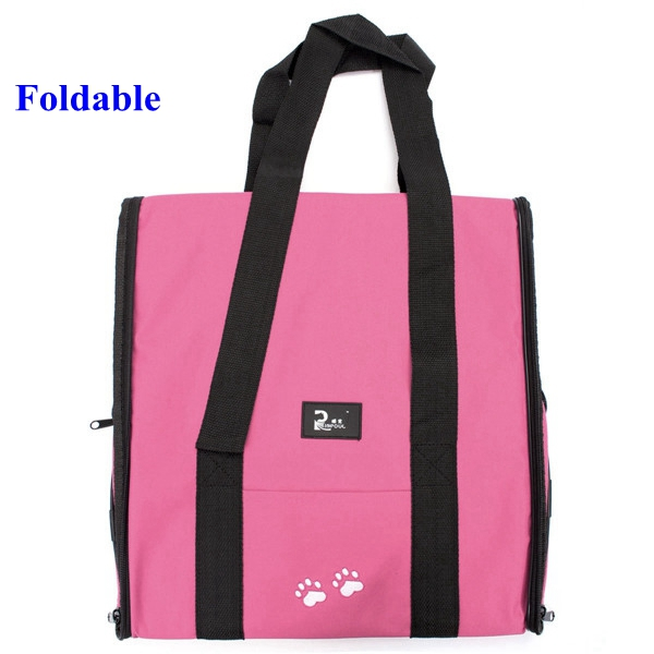 L Waterproof Portable Dog Carrier Foldable Pet Bag Cat Travel Kennel Case Cage Tent