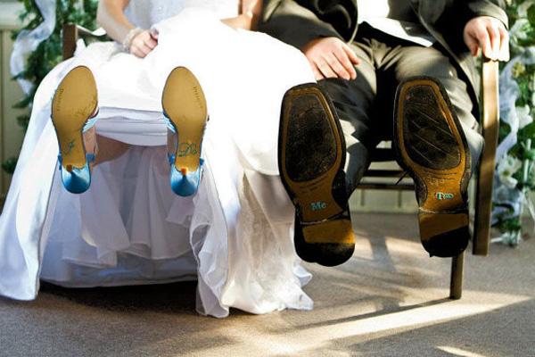 ICH TUN ME TOO Hochzeits Schuh Aufkleber Brautrhine Schuhe Sticker Hochzeits Dekoration