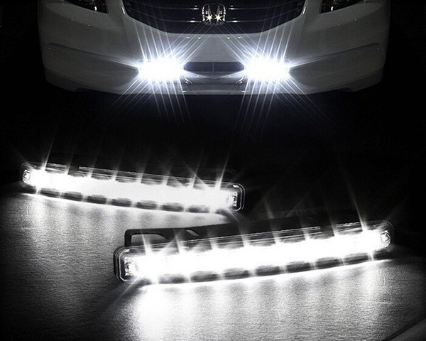 A Pair of 12W Led Daytime Running Light Fog Lamp With Turning Function