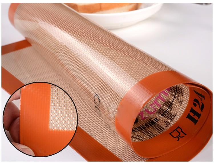 silicone panificação tapete de fibra de vidro de grau alimentar non-stick pad tapete de massa de pão do cozimento