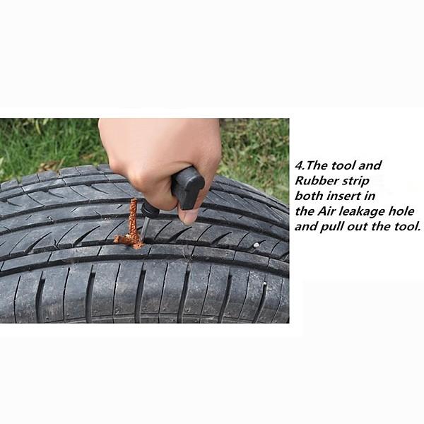 Herramientas de reparación de automóviles neumático de la bici del coche de la motocicleta de reparación sin tubo de punción
