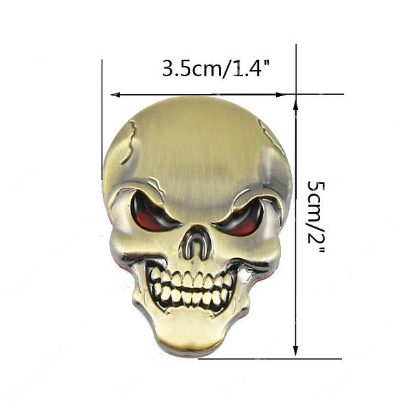 デーモンスカル金属3Dカーステッカースカルボーンエンブレムバッジデカールステッカー
