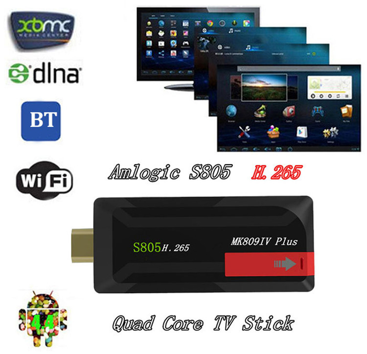 MK809IV Plus Amlogic S805 Quad Core 1GB/8GB Android 4.4 XBMC 1.5GHz Airplay Miracast TV Dongle