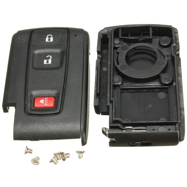 Akıllı Uzakdan Kumanda Flip Giriş Anahtarsız Anahtar Kılıf Shell for Toyota Prius Fob 3 Düğme